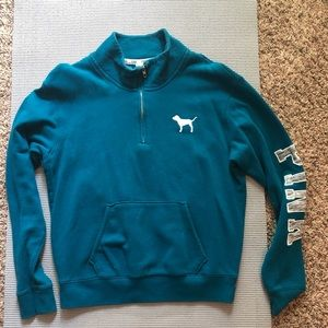 Blue Pink 3/4 Zipup Sweater